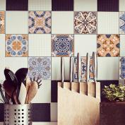 H Kitchen Tile Stickers - Backsplash Protection | Self Adhesive Decorative Wall Tile Transfers for Bathroom Tiles Design | Decals for Home Decor | , 20*100cm*5pcs,cz022 , 20*100cm*5pcs