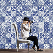 H Kitchen Tile Stickers - Backsplash Protection | Self Adhesive Decorative Wall Tile Transfers for Bathroom Tiles Design | Decals for Home Decor | , 20*100cm*5pcs,cz015 , 1