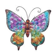 Art Deco Home - Wall Deco metallic Butterfly 26 cm - 13044SG