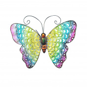 Art Deco Home - Wall Deco metallic Butterfly 34 cm - 13053SG