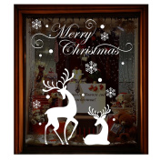 Christmas Wall Sticker, Woopower 50*70cm Removable Window Glass Sticker Bath Glass Sticker Home Decor Xmas Party Supplies