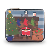 Y by Yoshi Santa Stuck Up Chimney Zip Top Leather Purse