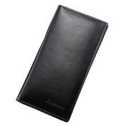 Man Wallet Fcostume Leather Concise Money Bag Huge Capacity Purse Card Holder (A, 19*9.5*0.5cm