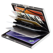 Stainless Steel Credit Card Holder Modern Brushed RFID Blocking ID Bank Card Wallet Protector Business Card Case
