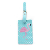 Pomineer PU Leather Luggage Tag Name ID Travel Label