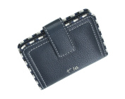 Tula MALLORY Collection Ladies Leather Credit Card Holder 7467 Navy