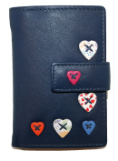 Mala Leather Small Bank/Credit card Holder Style Lucy 61230 (Navy) RFID