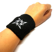 Vonchic Ninja Star Blade Logo Sports Sweatbands / Wristbands 1 Pair