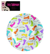 Very Popular, Naughty Tableware! Novelty Penis/Willy design Paper Plates, Perfect for your Anne Summers/Hen Party