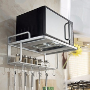 lzzfw Microwave Oven Wall Hanging Kitchen Racks Kitchen Hardware Accessories
