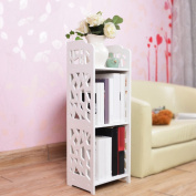 stable Rack, Wood-plastic board Carved simple combination bookshelf Shelf Simple modern child On the table bookshelf Simple and elegant
