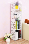 stable Rack, Wood-plastic board Carved simple combination bookshelf Shelf Simple child Table book Simple and elegant