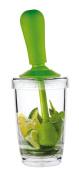 The Free 5040461 Mojito Mortar, Plastic, Clear/Green, 8.5 x 8.5 x 22.5 cm