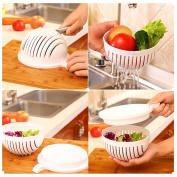 Salad Cutter Bowl, Salad Maker Basket With Chopper Board Fruit Vegetable Washer Food Draining Basket
