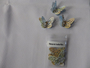 10 3D Monarch butterflies 4.5cm x 3cm with 2 diamonte made from an atlas