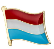 Luxembourg Flag Enamel Pin Badge