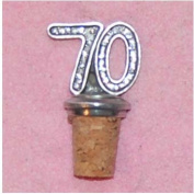 70th Birthday UK Made Pewter Bottle Stopper