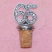 65th Birthday UK Made Pewter Bottle Stopper