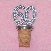 60th Birthday UK Made Pewter Bottle Stopper