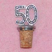 50th Birthday UK Made Pewter Bottle Stopper