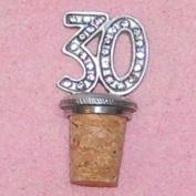 30th Birthday UK Made Pewter Bottle Stopper