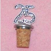 25th Birthday UK Made Pewter Bottle Stopper