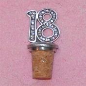 18th Birthday UK Made Pewter Bottle Stopper