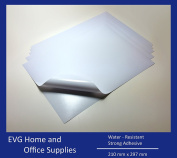 10 Sheets Quality White Waterproof A4 VINYL Matt Sticky Self Adhesive LASER Printable