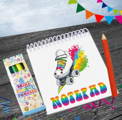 Rainbow Roller Skates / Skating Party Notepads & Pencils