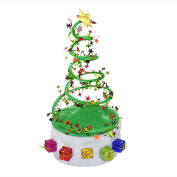 Kicode Fancy Dress Christmas Tree Coil Spring Hat Party Hats Cosplay Costume Gifts Decor