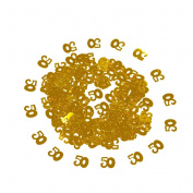 TOYMYTOY A Bag of Gold Number 50 50th Table Sequins Confetti for Anniversary Birthday Decoration Supplies DIY Crafts