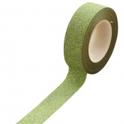 dragonaur 10m Glitter Washi Paper Sticky Adhesive Masking Label DIY Craft Decorative Tape size Medium