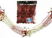 Christmas Foil Garland RED Ceiling 2.7m Decoration Hanging Star Home Swirls Festive Party