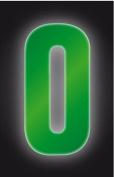 Reflective Wheelie Bin Numbers (Approx. 16.5cm Height) - 0 To 9 - Swan household ®