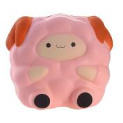 Asdomo Slow Rising Squishies Kawaii Blue Lamb Cute Sheep Kawaii Animals Squeeze Christmas Soft Toys Stress Reliever Toy Xmas Gifts for Boys Girls Kids Children