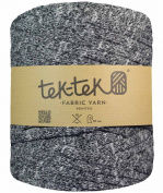 T-Shirt Yarn, Chunky mottled grey, 100m roll