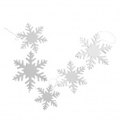 Demiawaking 12Pcs Christmas Snowflakes Hanging Garlands String Decorations Bunting Xmas Decor