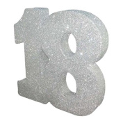 Silver Glitter Number Table Decoration Age 18