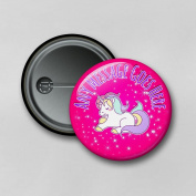 Adorable Unicorn V1 (5.8cm) Personalised Pin Badge Printed in Hi-RES Photo Quality