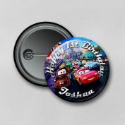 Disney Cars (5.8cm) Personalised Pin Badge Printed in Hi-RES Photo Quality