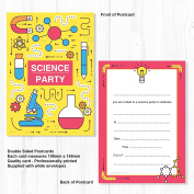 Science Party Invitations - Ready to Write with Envelopes