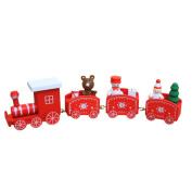 UPXIANG Christmas Woods Express Small Train Set Xmas Decor Kids Kindergarten Festive