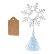 Blesiya Winter Snowflake Bottle Opener w/ Fringe Wedding Christmas Bomboniere Favours