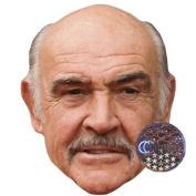 Sean Connery Celebrity Mask, Card Face and Fancy Dress Mask