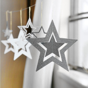 Sparkling Star Glitter Twinkle Star Sparkling Paper Banner Bunting Hanging Decoration for Wedding Party Christmas 14 Pcs or 28 Pcs