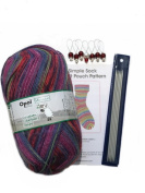 Opal 4ply Yarn Sock Knitting Kit - Wool, DPN's, Stitch Markers & Pattern Schafpate 7957 George