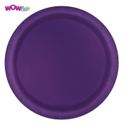WOW 23cm Paper Party Plates - Pack of 10 - DEEP PURPLE