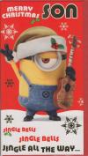 Despicable Me Minions Christmas Card - Son