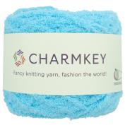 Charmkey Shaggy Fur Yarn Baby Soft 5 Bulky Fuzzy 100 Percent Polyester Velvet Knitting Yarn 12 Ply for Fluffy Dolls Blanket Furry Amigurumi Toys, 1 Skein, 100ml