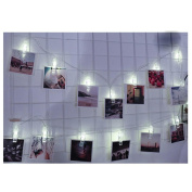 1.5M 10 LED Hanging Card Picture Clips Photo Pegs String Light Lamp Indoor Party Wedding Home Decor BY UPXIANG